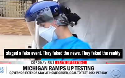 CBS Stages Coronavirus Event at Hospital with Fake Patients