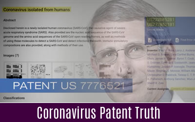 Shocking Coronavirus Patent Truth